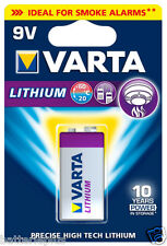 4x Varta Lithium 9V Block Batterie für Rauchmelder  (ehem. Professional)