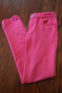 Gymboree girls size 10 adjustable waist pink super skinny pants jeggings EUC
