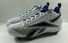 Reebok Mens NFL Equipment FGT Cleat White Blue Shoes - Size 17