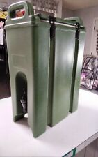 Cambro 500 Lcd Insulated Beverage Dispenser Cooler Army Green Great Condition