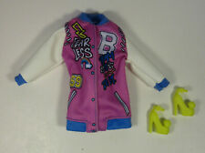 Barbie Fashionista Number 156 Doll Outfit Varsity Jacket High Heels Clothes