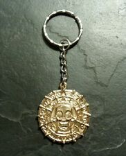 Pirates of Caribbean Aztec Skull Coin Key Ring Pendant Charm Collectible Gift
