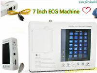 Medical 12-lead 3-channel Electrocardiograph ECG Monitor EKG Machine + Gift USPS