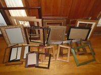 VINTAGE ANTIQUE WOOD WOODEN FRAME LOT 27 WOOD PICTURE FRAMES