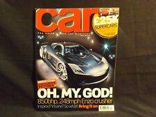 CAR MAGAZINE ISSUE 499 MARCH 2004. MASERATI QUATTROPORTE. SMART FORFOUR.