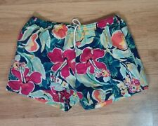 Vtg 80s 90s IZOD LACOSTE shorts swim trunks Swimsuit Board Hawaiian XL Floral