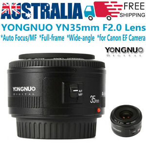 YONGNUO YN 35mm F2 Full-frame Wide-angle Lens Auto Focus /MF for Canon EF /Z CAM