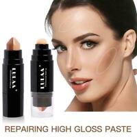 Shimmer Highlight Contour Stick Makeup Face Body Concealer Powder Beauty Cr P7I2