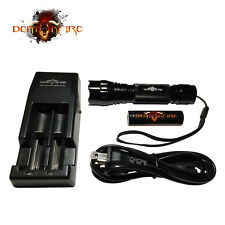 Demonfire WF-501B 1000 Lumen CREE XM-L2 LED Flashlight with Battery & Charger
