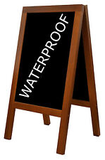 CHALK BOARD BLACKBOARD wooden A-BOARD PAVEMENT WATERPROOF - FREE engraving HEAVY