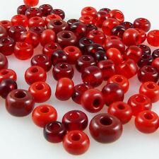 verschiedene Rot-Töne; *1696 50 g Böhmische Glasperlen Mix LADY IN RED