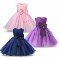 Formal Pageant Flower Girl Bridesmaid Wedding Birthday Party Graduation Dresses