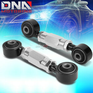 FOR 88-00 CIVIC/CRX/DEL SOL/DC SILVER ADJUSTABLE REAR LOWER TOE CONTROL ARM/BAR