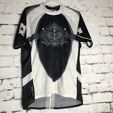Primal Wear Cycling Jersey XL Ace Of Spades Black White Great Condition af89b6811