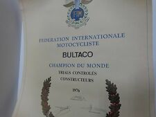 BULTACO TRIAL WORLD CHAMPION 1976 POSTER