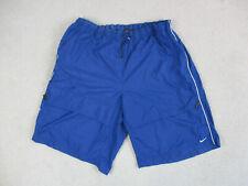 VINTAGE Nike Shorts Adult 3XL XXXL Blue White Swoosh Athletic Mens 90s
