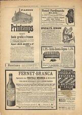 Stampa antica pubblicità GRANDI MAGAZZINI PRINTEMPS altro 1893 Old antique print