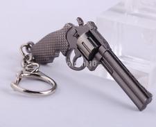 Gun Keychain Military Weapon Model Revolver Pistol Metal Keychain CA