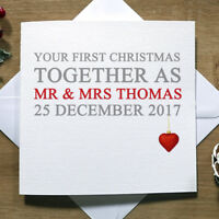 Personalised Handmade Your/Our 1st Christmas Together Card - For Them, Xmas