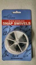 20 Assorted Black Interlock Snap Swivels