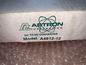 NEW in BOX ASTRON A4812-12 DC TO DC CONVERTER 12 AMPS IN 30-56V OUT 13.8VDC