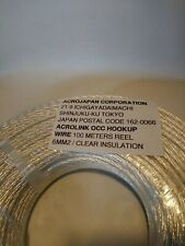 1m 6mm² Silver OCC Hook Up Wire Acrolink Japan Corp Audiophiles HiFi