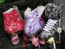 Women Sz 9, heel to toe is 10 3/16 In. Red/Black / Purple Skates /Sz 6-9
