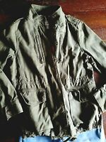 Olive Green Military Cargo Jacket ~ JC Penny ~ Women's Size Small S