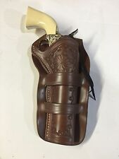 Colt SAA 51/2 Barrel Ruger Vaquero Leather Brown Holster Right Hand