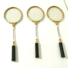 (3) Vintage Professional Model Squash Racquet Racket 158 Perfect Balance Tennis