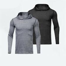 Men Hooded Shirt Sport Basketball Training Running Quick Dry Long Sleeve T-Shirt
