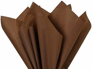 """24 Lg SHEETS Chocolate Brown Tissue Paper~20""""x 30"""" ~GIFT WRAP BROWN TISSUE PAPER"""