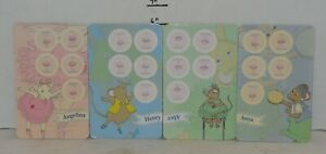 Angelina Ballerina Match Dance Memory Game Replacement Set of 4 Collection Card