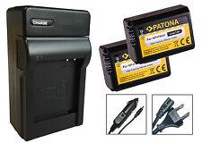 2 x Patona-Akku + Ladegerät Sony Alpha 6000 / ILCE-6000 / α6000  - NP-FW50