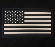 USA AMERICAN FLAG 3D PVC SWAT/ BLACK OPS GLOW HOOK PATCH