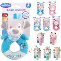 Baby Animal Handbells Musical Developmental Toy Bed Bells Soft Toys Rattle 16cm