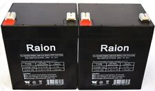 12v 5Ah Genesis NP4-12-F2 Sealed Lead Acid Replacement Battery Raion brand 2pk