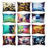FJ- 30x50cm Abstract Geometric Rectangular Cushion Cover Pillow Case Decor Mysti