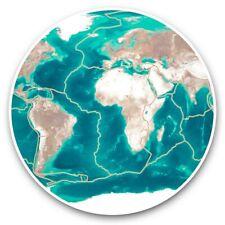 2 x Vinyl Stickers 30cm - Tectonic Plates Volcano Earthquake Zones  #46353