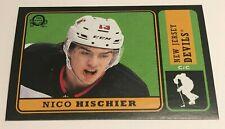 Nico Hischier /100 made OPC Retro Black Insert Parallel Hockey Card 24, 2018-19