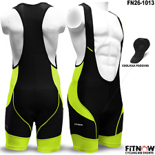 Mens Pro Cycling Bib Shorts Coolmax Anti-Bac Padding Cycle Tight Bicycle Shorts