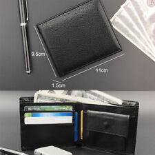 Schwarze Herren Ledergeldbörse Brieftasche Geldbeutel Geldbörse Portemonnaie