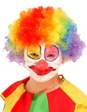 Adulto Unisex Circo Clown Afro Parrucca Uomini Donne DIVERTENTE PAGLIACCIO Costume Parrucca