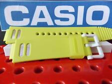 Casio Watch Band G-001 HC-3 Pale Yellow Hyper G-Shock Strap W/ Metal Mesh Insert