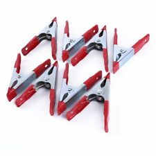 8 x Strong Metal Spring Clamps/Stall Clips Holder for Large Tarpaulin,Silver/Red