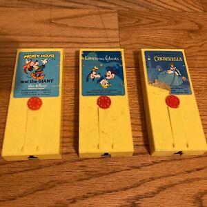 Lot FISHER PRICE 1970's Disney Movie Viewer Cartridges Ghosts Mickey Cinderella
