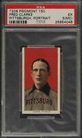 Rare 1909-11 T206 HOF Fred Clarke Portrait Piedmont 150 Pittsburgh PSA 5 MC EX