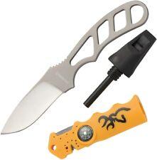 Couteau De Survie Browning Knife & Flint Stick Combo Allume Feu Affuteur BR0041