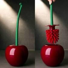 Creative Lovely Cherry Shape Lavatory Brush Holder Toilet Bathroom Cleaning Set