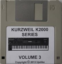 "Kurzweil K2000/K2500/K2600 Series Synthesizer "" Volume 3"" Custom sound programs"